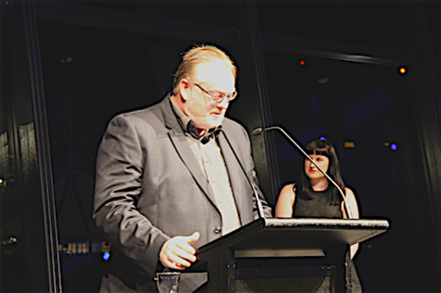 Professor Ostwald at the Australian Institute of Architects (AIA) recognition ceremony.